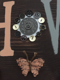 Steampunk Wooden Sign - MooshWalks