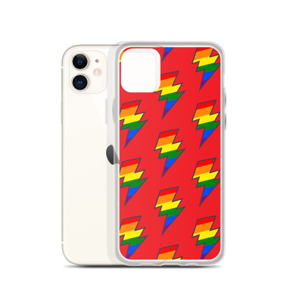 Red PRIDE Lighting Bolt iPhone Case