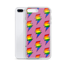 Load image into Gallery viewer, Pink PRIDE Lighting Bolt iPhone Case