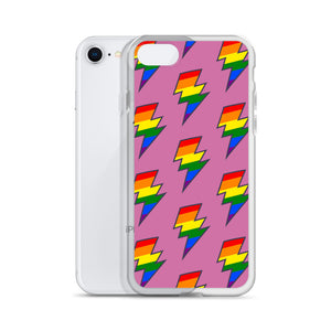 Pink PRIDE Lighting Bolt iPhone Case