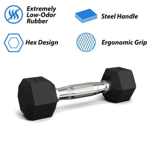 Synergee Rubber Hex Dumbbells Pairs