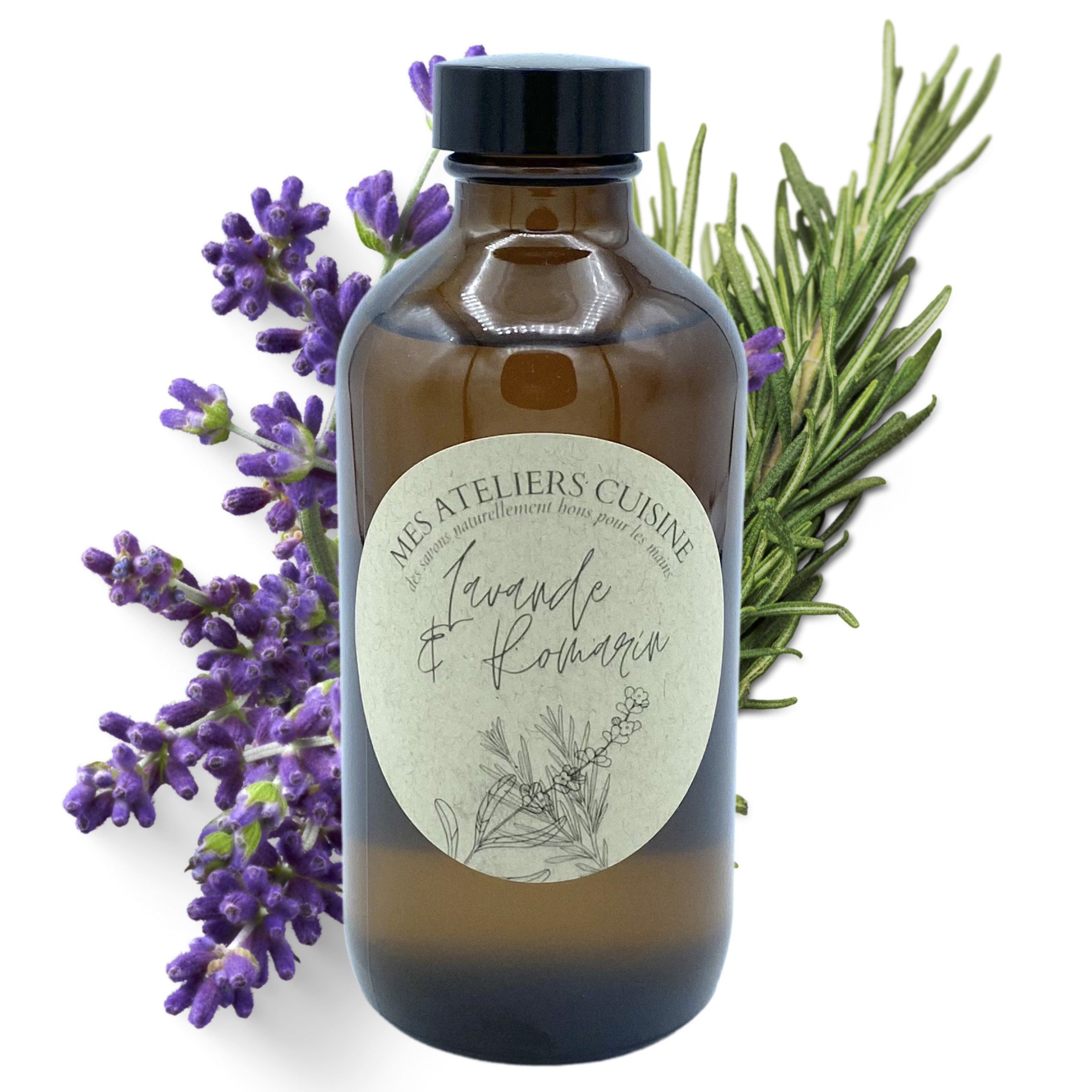 Lavender and rosemary hand soap