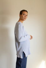 Load image into Gallery viewer, Vintage light blue cotton waffle weave cardigan // L (1541)
