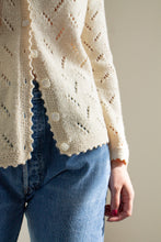 Load image into Gallery viewer, Vintage cream open knit cardigan // M (1468)