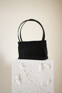 Vintage black corde purse // N/A (1423)