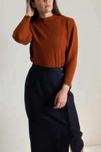 Vintage rust cropped crewneck sweater // L (1501)