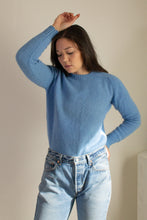 Load image into Gallery viewer, Vintage blue wool crewneck sweater // M (1073)