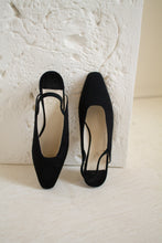 Load image into Gallery viewer, Vintage Joan & David black slingback heels // 6.5 (1409)
