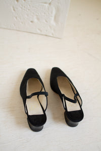 Vintage Joan & David black slingback heels // 6.5 (1409)