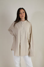Load image into Gallery viewer, Vintage beige silk shirt // XXL (1761)