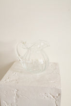 Load image into Gallery viewer, Vintage clear glass short rippled pitcher (D360)