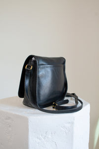 Vintage Coach black leather square crossbody purse // N/A (1975)