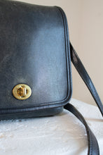 Load image into Gallery viewer, Vintage Coach black leather square crossbody purse // N/A (1975)