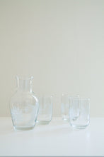 Load image into Gallery viewer, Vintage glass celestial carafe and glasses (D181)