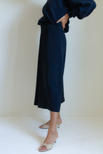 Load image into Gallery viewer, Vintage 90s indigo blue long wool-blend skirt // S (1063)