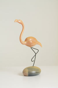 Vintage 80s John Perry Moon Egg flamingo figure (D204)