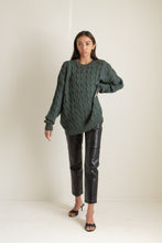 Load image into Gallery viewer, Vintage forest green alpaca wool sweater // XXL+ (1247)
