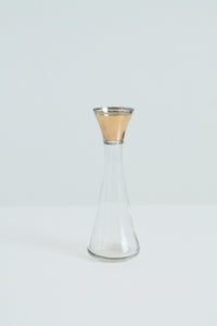 Vintage glass and gold bud vase (D187)