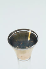 Load image into Gallery viewer, Vintage glass and gold bud vase (D187)