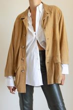 Load image into Gallery viewer, Vintage tan suede three pocket chore jacket // XL (1262)