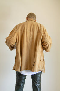 Vintage tan suede three pocket chore jacket // XL (1262)