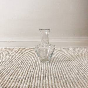Vintage heavy glass vase (D149)