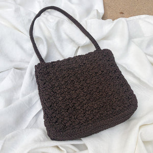 Vintage Carrie Forbes brown woven purse (998)