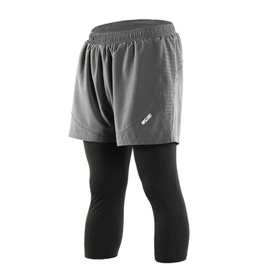 "Quick Dry Mens Sports 3"" Running Shorts Active Training Exercise Jogging 2 IN 1 Shorts With Longer Liner 4 Colors-in Running Shorts from Sports"