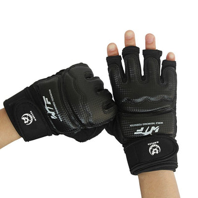 Half Finger Fight Boxing Gloves PU Protector