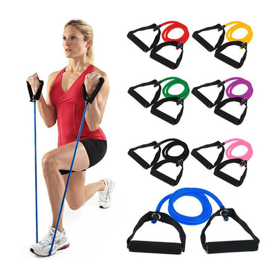No Noise Abdominal Wheel Elastic Resistance Bands