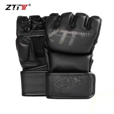 PU Leather MMA Fighting Kick Boxing Gloves