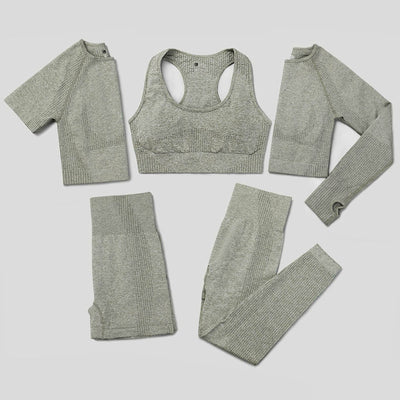 5 Pcs Seamless Yoga Set
