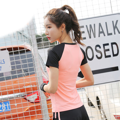 Women Sportswear Quick Dry Running Sports Joggers Female Training Gym Fitness Tracksuits Running Sports Yoga Wear T-Shirts