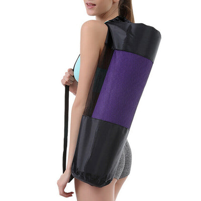 Portable Gym Fitness Yoga Mat Blanket Carry Pouch Oxford Cloth Shoulder Bag
