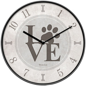 Westclox 10-inch Love Paws Wall Clock