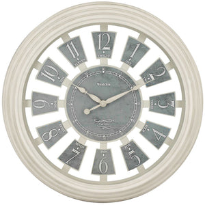 Westclox 16-inch Antique White Panel Clock