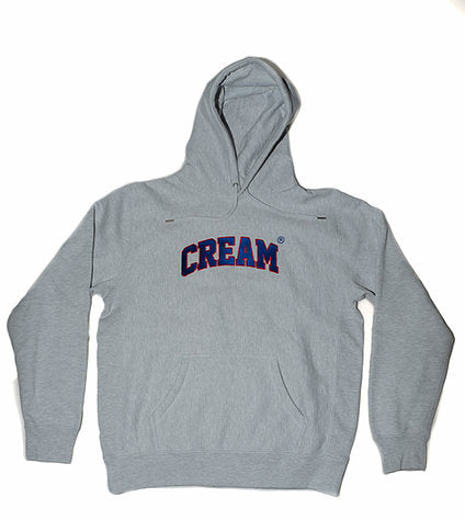 Cream By Eighty Heavyweight Varsity Pullover (Red/Blue)