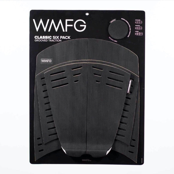 WMFG TRACTION: Six Pack Kiteboard Deck Pad Grooved Black