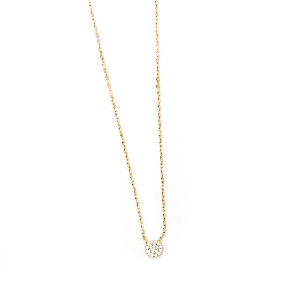 Circle Pave Necklace