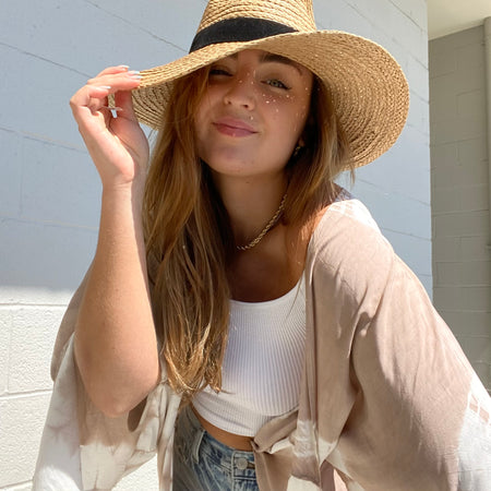 Relaxed Wide Brim Straw Hat