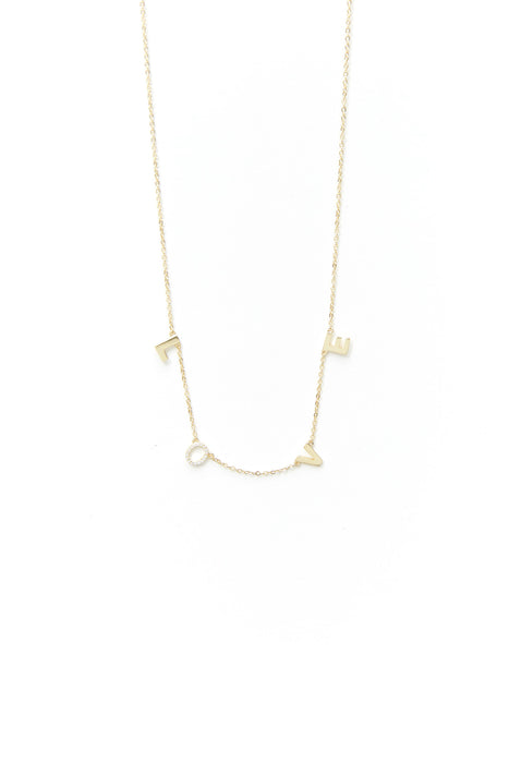 Love Pave Necklace 2 Colors Available
