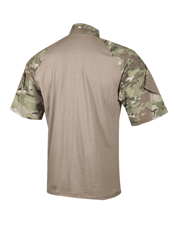 Short Sleeve 0.25 Zip Combat Shirt, Black