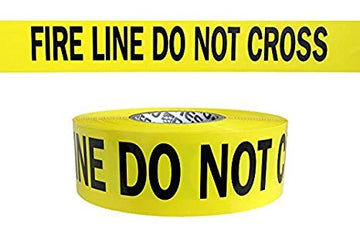 "Yellow Barrier FIRE LINE DO NOT CROSS Tape 3""x1000'x3mm"