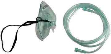 Oxygen Mask Elong with Adult Med Concentrate