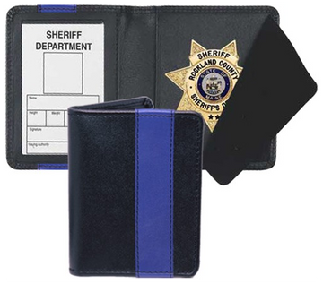 STRONG LEATHER Blue Line Badge Case