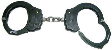ASP Handcuffs, Aluminum, Chain Link, Black