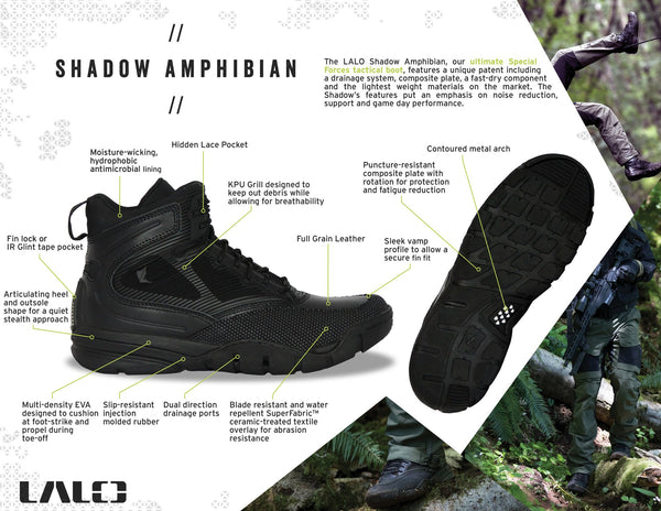 "SHADOW AMPHIBIAN 8"" Black Ops"