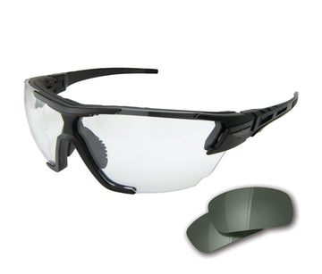 Phantom Rescue - Black Thin Temple Frame 2 Lens Kit / G-15 and Clear Vapor Shield Lenses