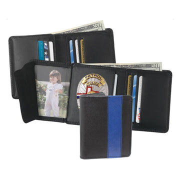 STRONG LEATHER Blue Line Badge Wallet