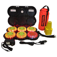 POWERFLARE Cone Kit with Rechargeable 6-Pack Landing Zone Kit
